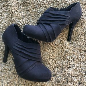 Black Suede Mossimo Booties